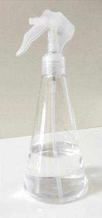 消毒用エタノールをスプレーボトルへ